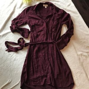 Anthropologie Cloth & Stone maroon dress